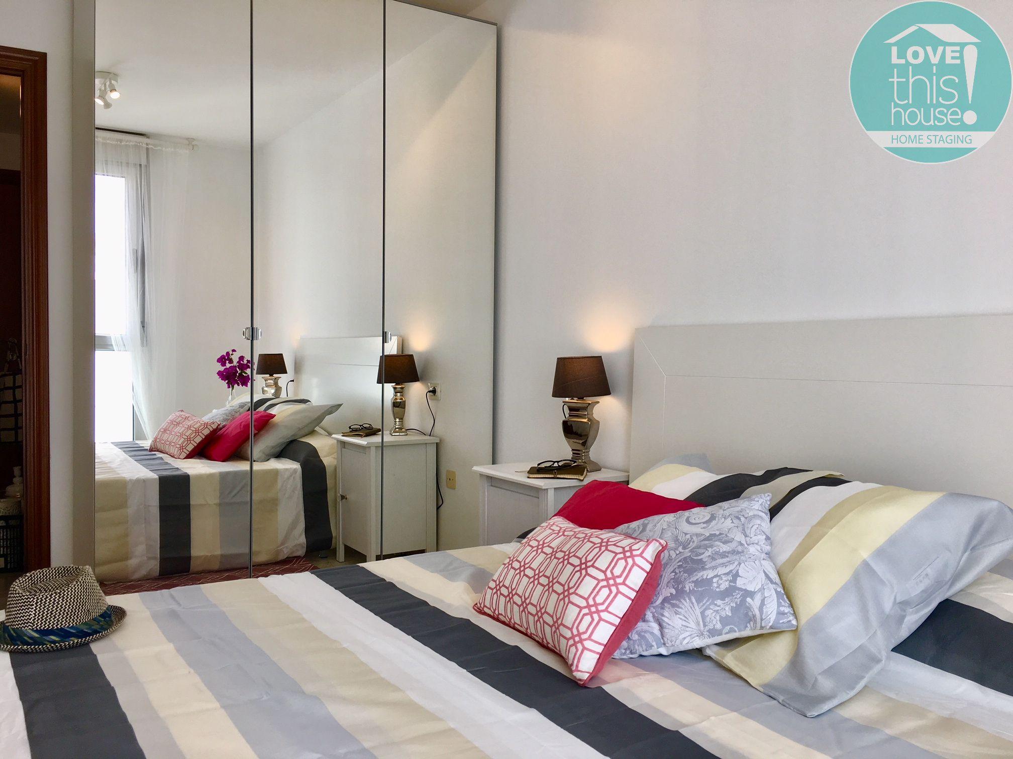 Dormitorio con cama doble y armario - Nivaria