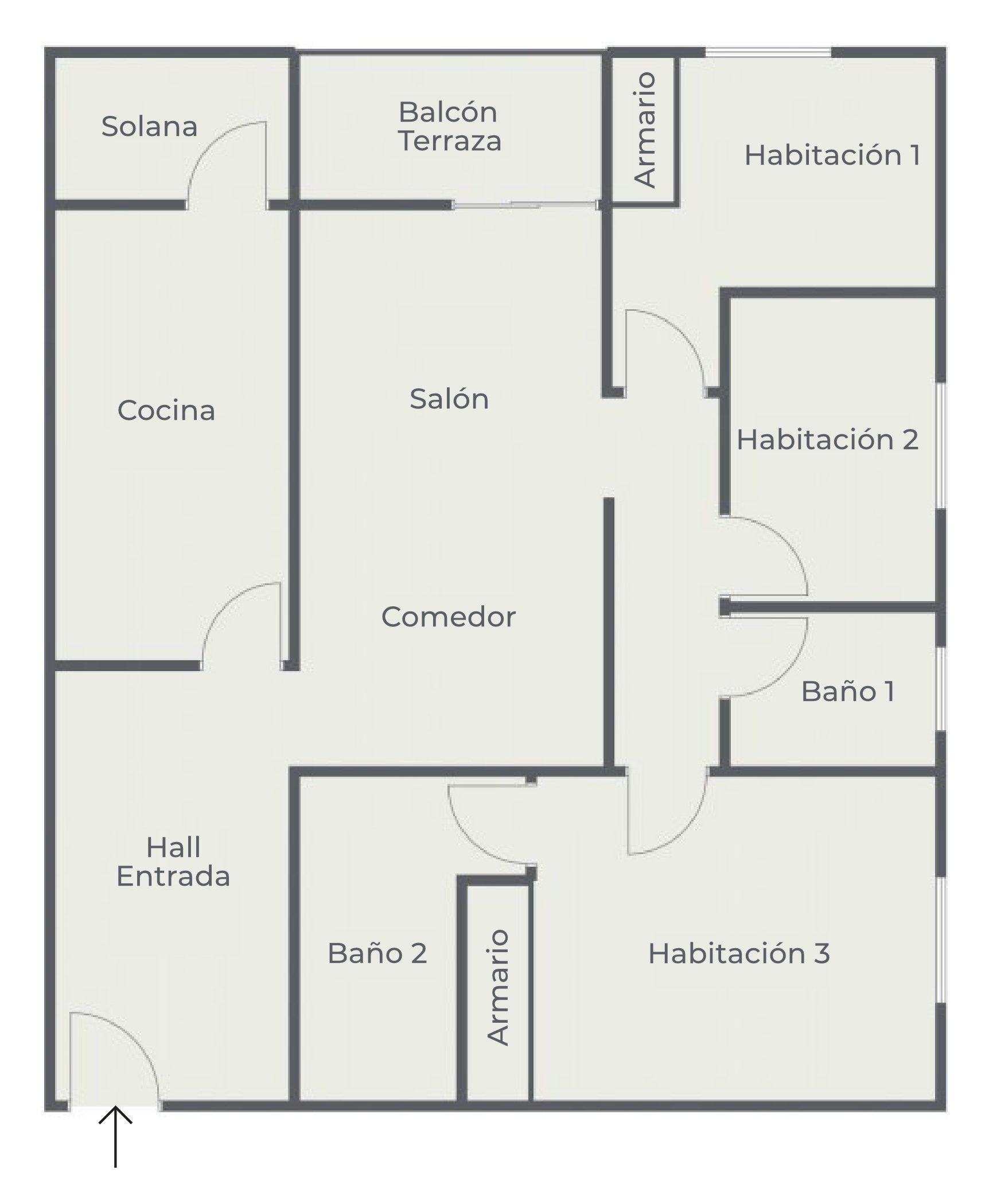 Las Galletas - Edificio Lavanda - Plano