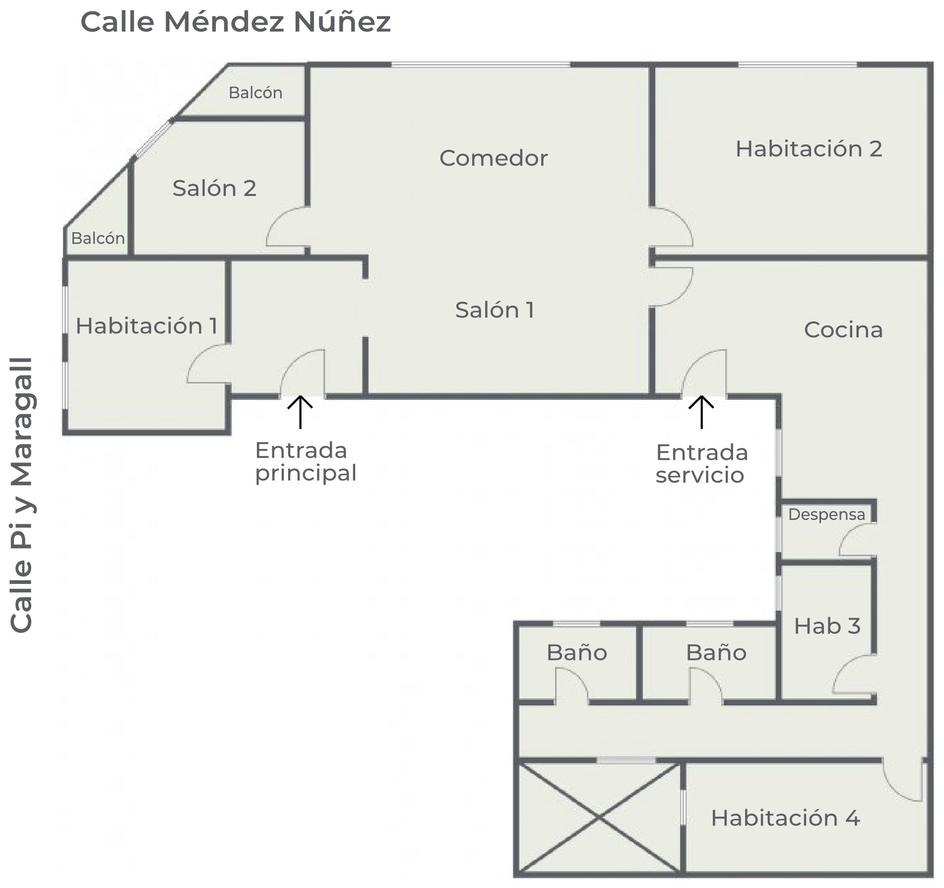 Piso en venta Méndez Núñez - Plano