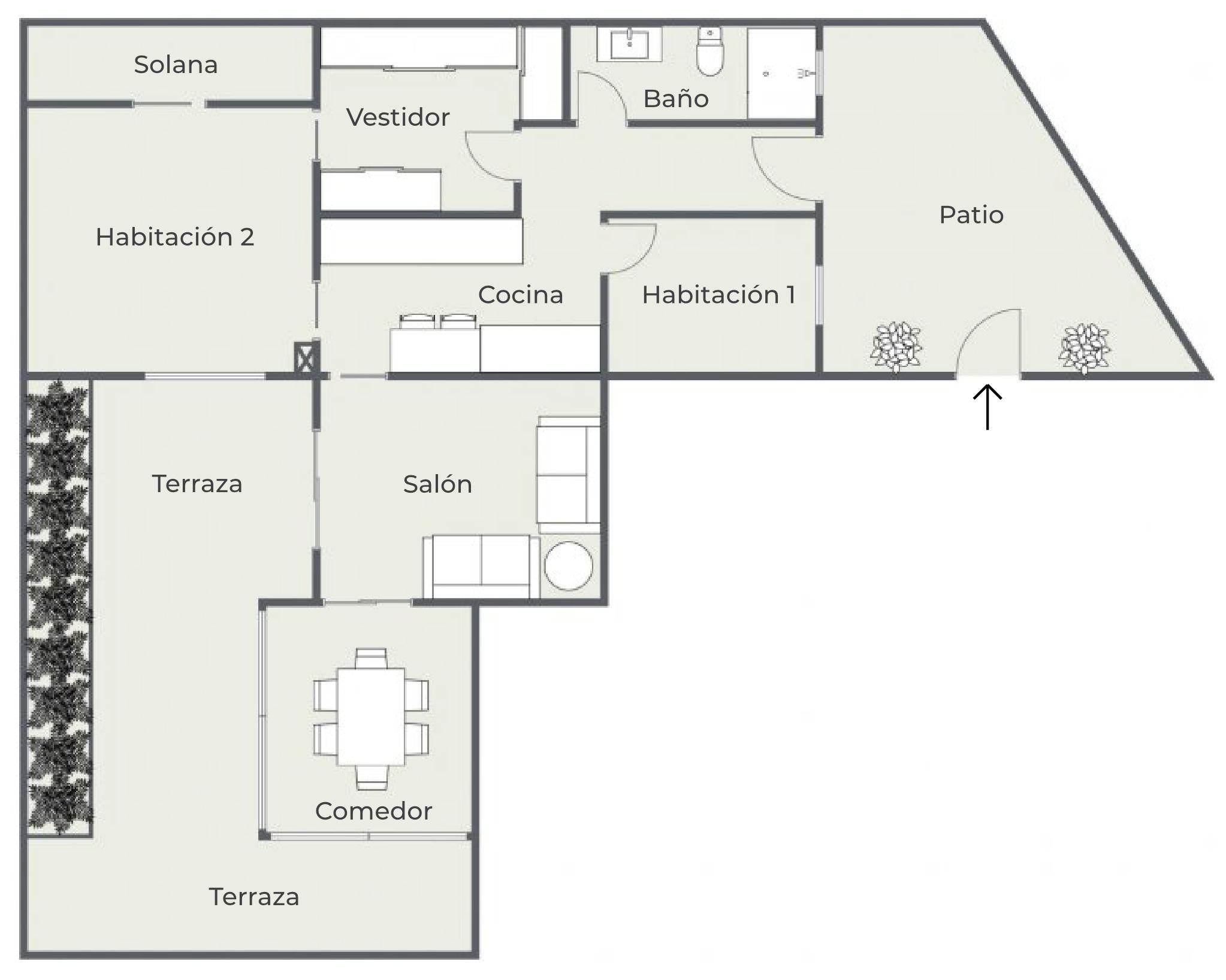 Plano de planta - Las Acacias - Club Oliver