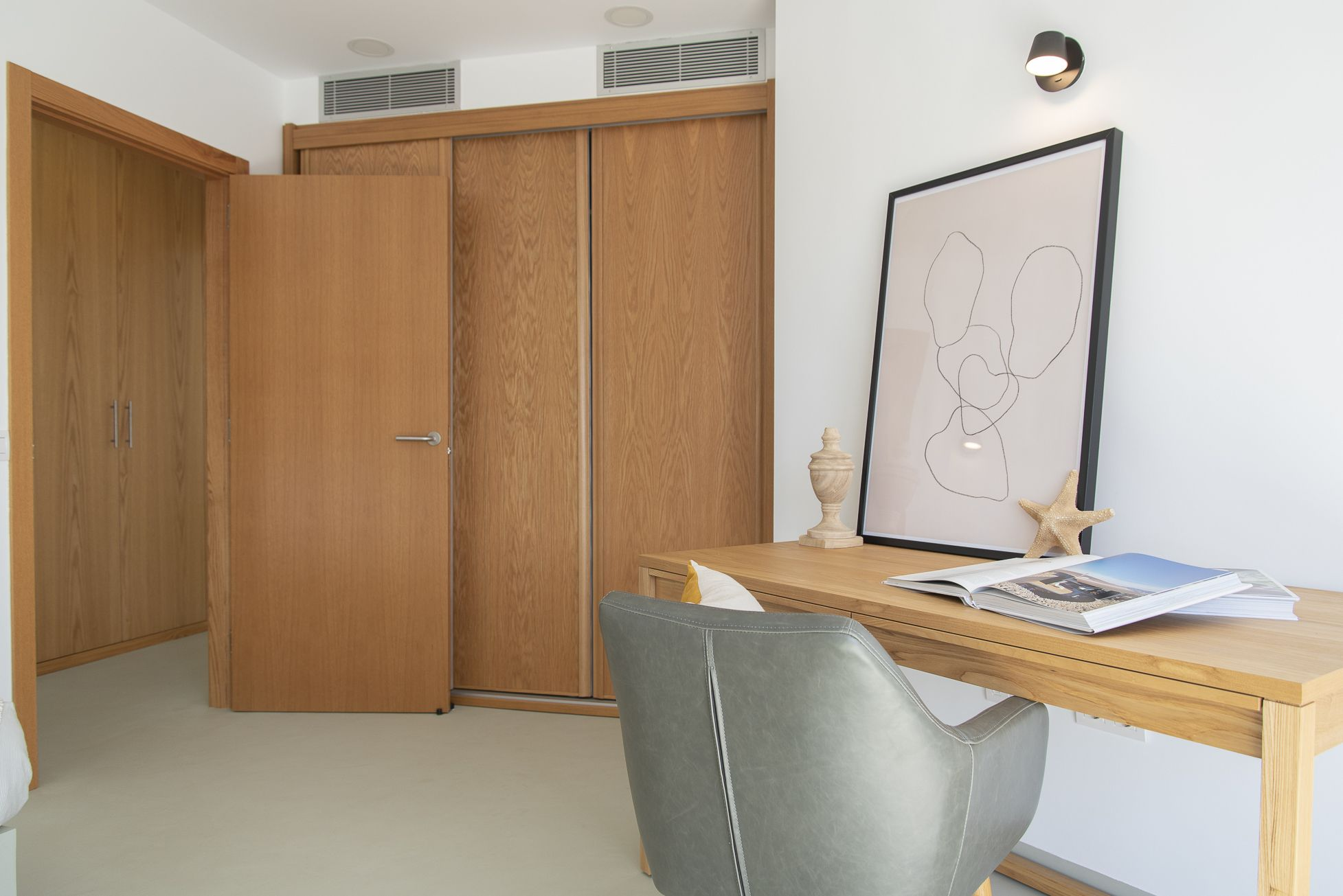 El Porís - Habitación principal, detalle de materiales