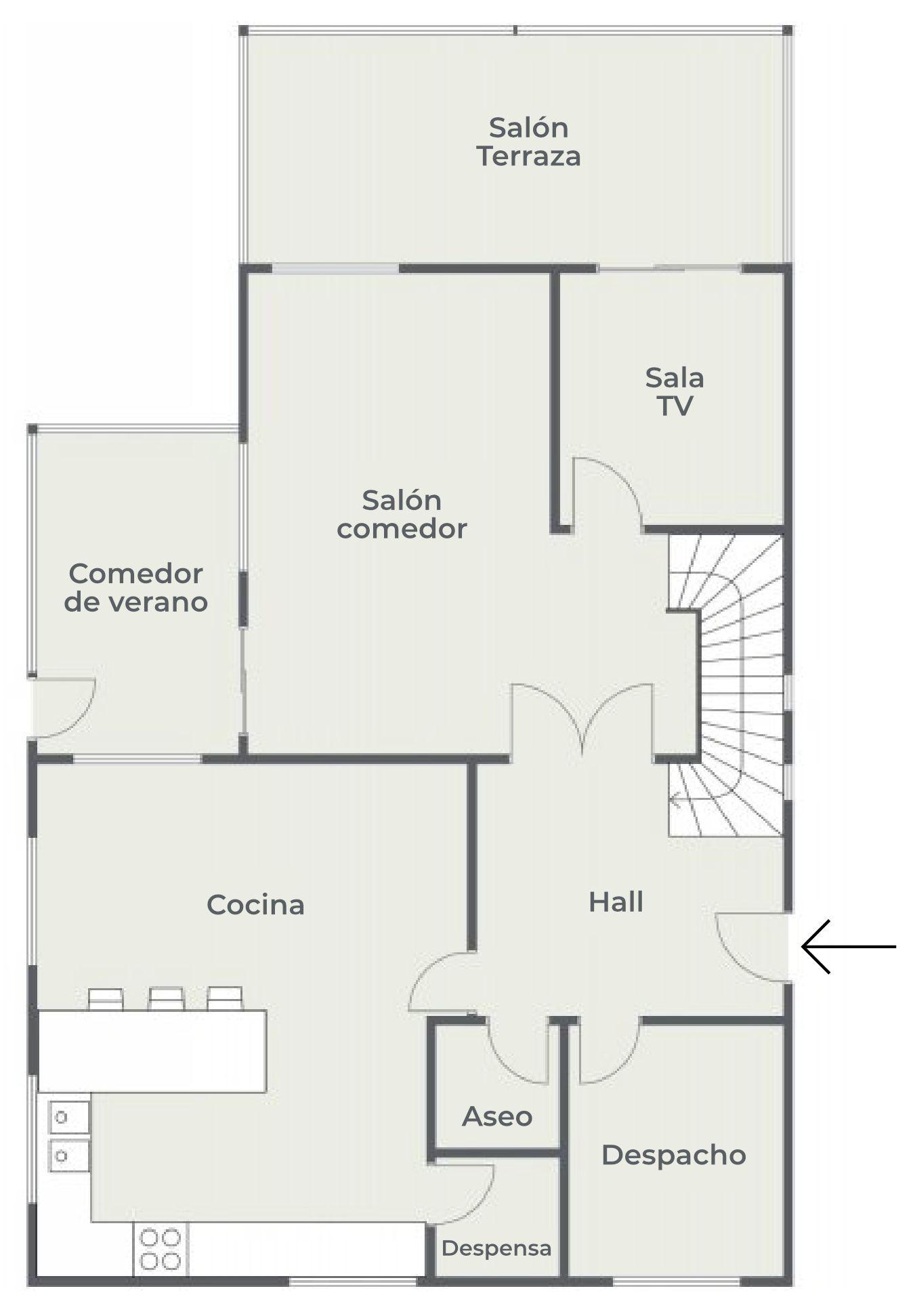 La Casa Azul - Tegueste. Plano de planta. Planta baja