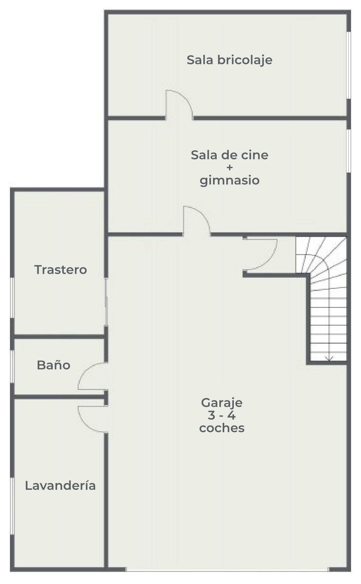 La Casa Azul - Tegueste. Plano de planta. Semisótano