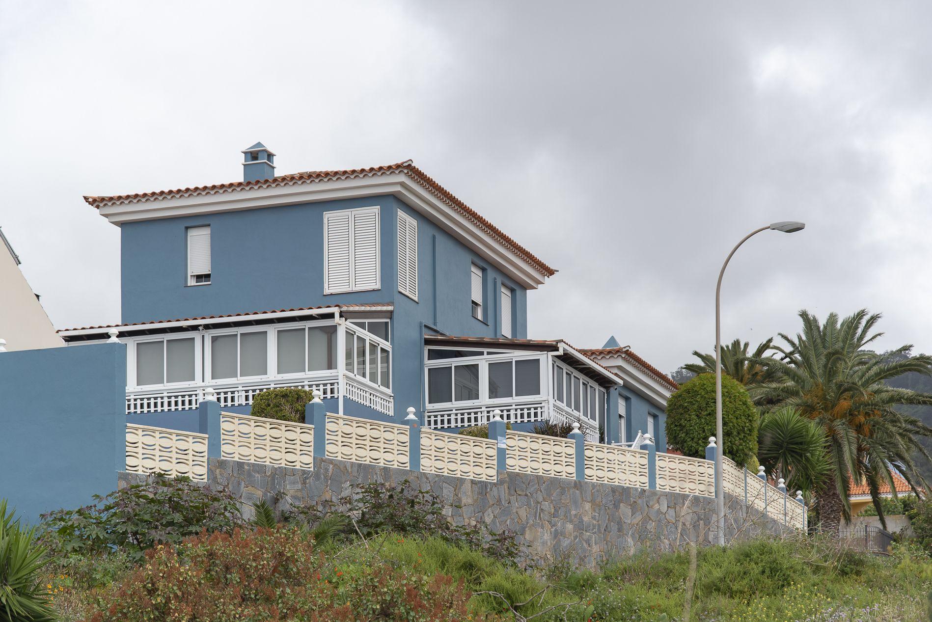 La Casa Azul - Tegueste. Fachada sur
