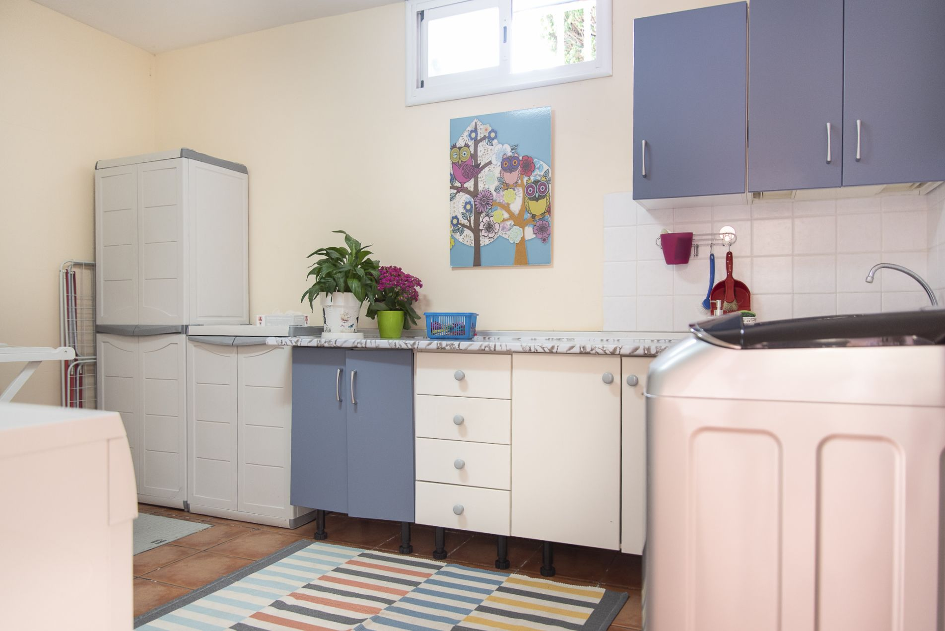 La Casa Azul - Tegueste. Lavandería y cocina