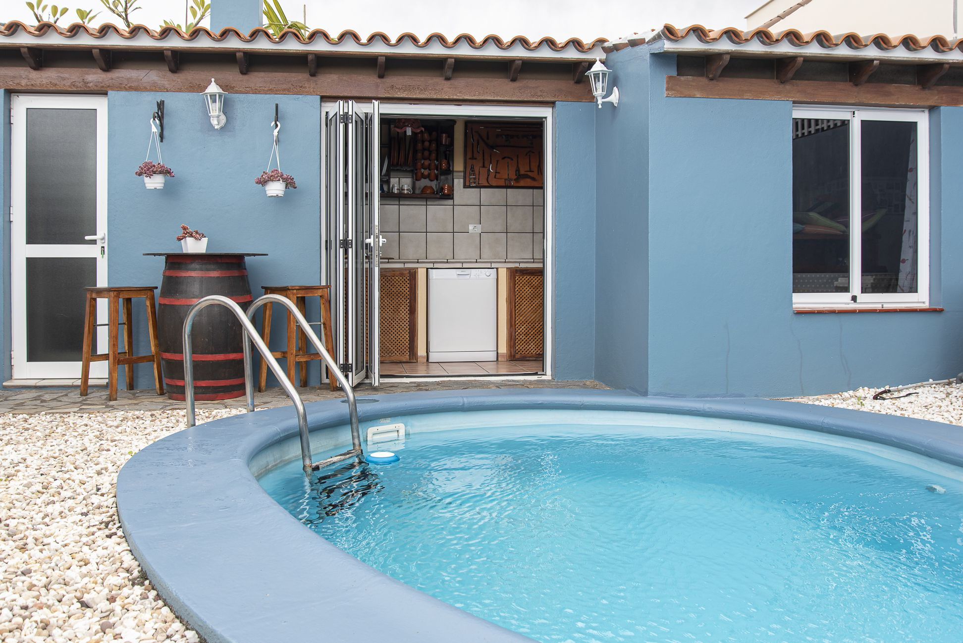 La Casa Azul - Tegueste. Zona de barbacoa